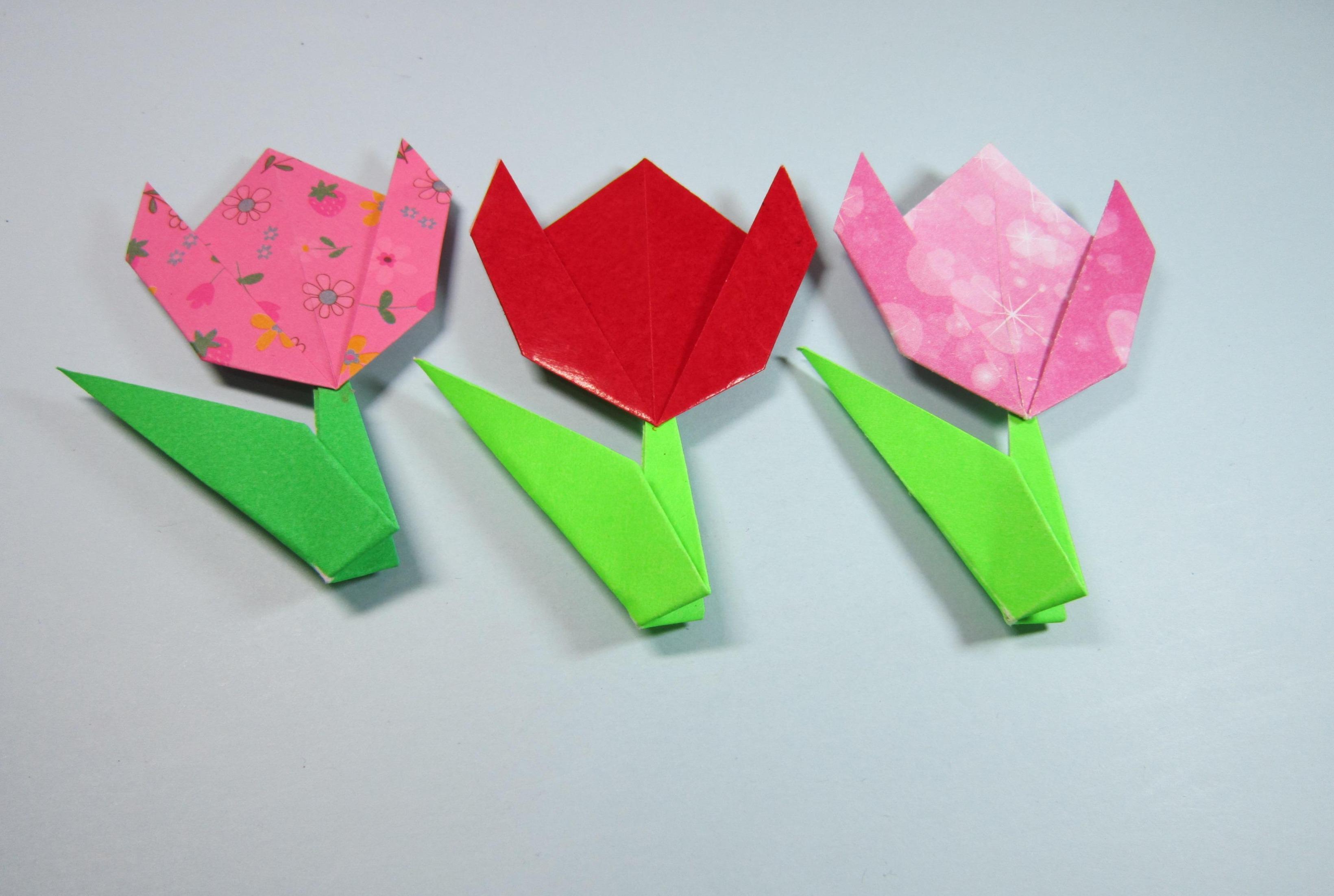 视频:趣味手工折纸郁金香,2张简单的纸就能折出一朵漂亮的郁金香
