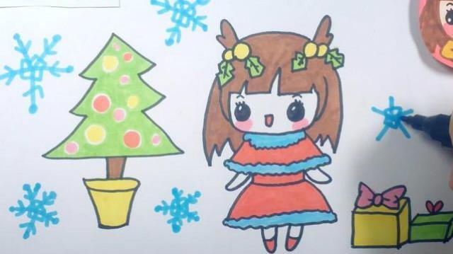 姐姐怎么画_可乐姐姐学画画-可乐姐姐圣诞节