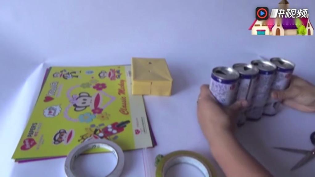 儿童玩具手工制作坦克车,用卡纸制作手工
