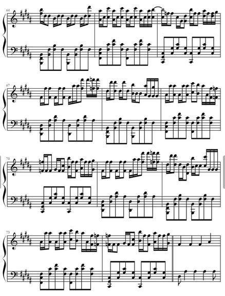 faded的钢琴简谱