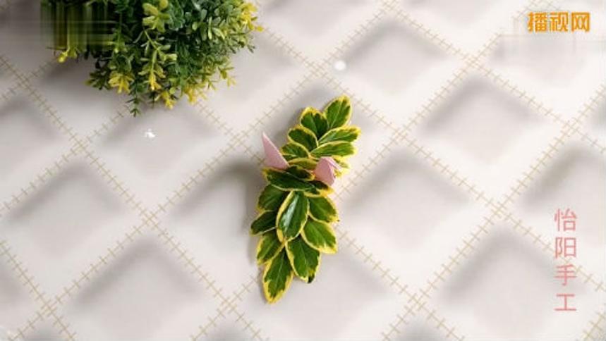 树叶千纸鹤折纸教学 儿童手工折纸教学
