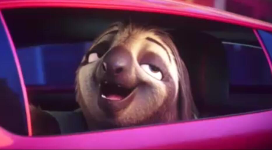 视频-《疯狂动物城》:很慢的树懒闪电竟成了飙车党