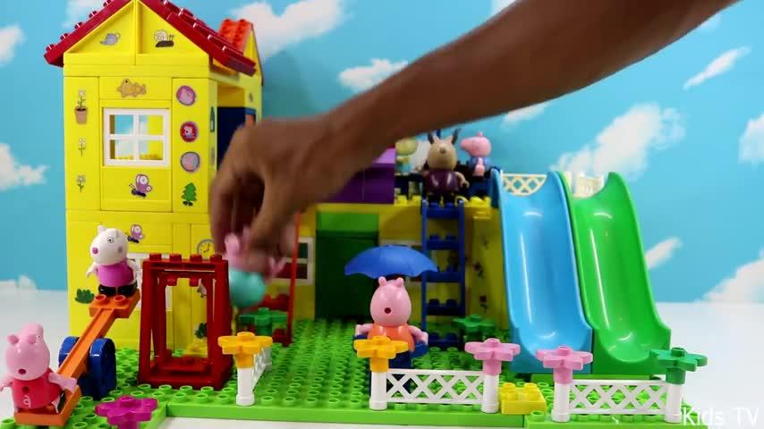 小猪佩奇积木房屋 小猪佩奇 第二季 猪爸爸又滑倒了