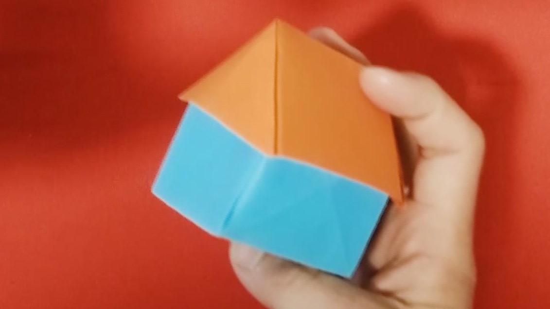 儿童折纸视频教程,手工折纸如何折立体房子教程,美兰儿童折纸大全