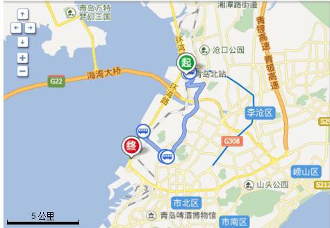 高铁青岛北站怎么到海洋水族馆