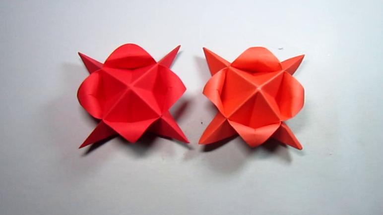 简单的手工折纸花,一张纸折一朵漂亮的小花