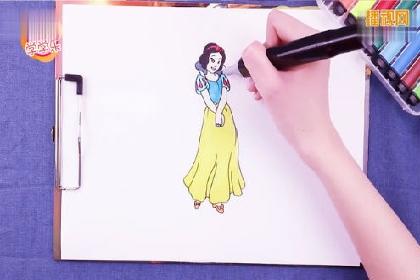 童话故事 白雪公主的故事 白雪公主简笔画