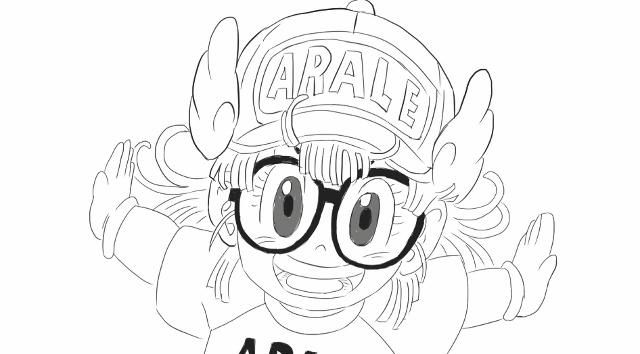 [小林简笔画]绘画动画片《怪博士与机器娃娃》中可爱的快乐阿拉蕾.