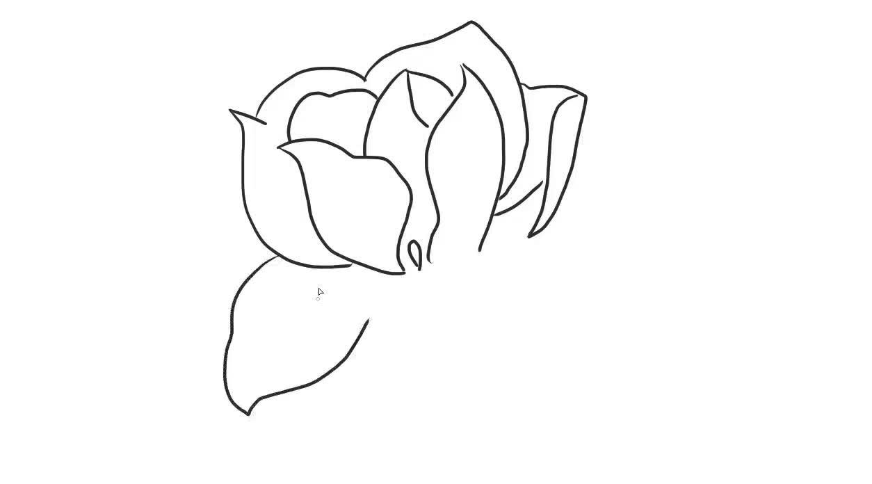 玉兰花幼儿亲了儿童简笔画图片