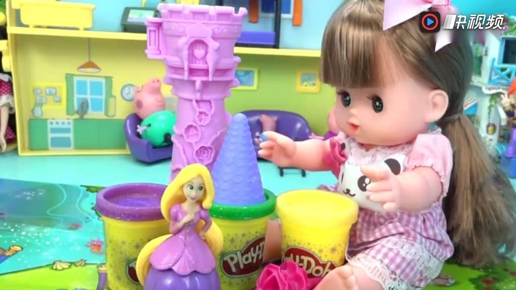 芭比娃娃培乐多彩泥芭比制作 芭比公主玩具视频亲子游戏 玩具 视