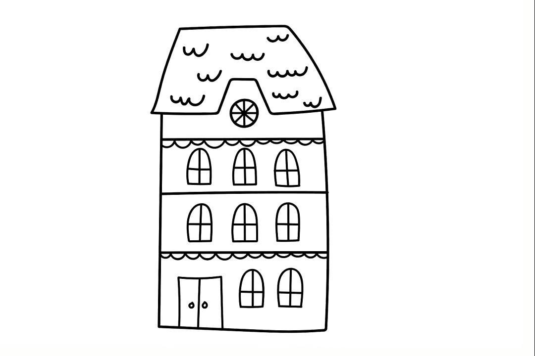 视频:亲子早教画画,幼儿园老师常教的盒子房子简笔画温习画法,简单的