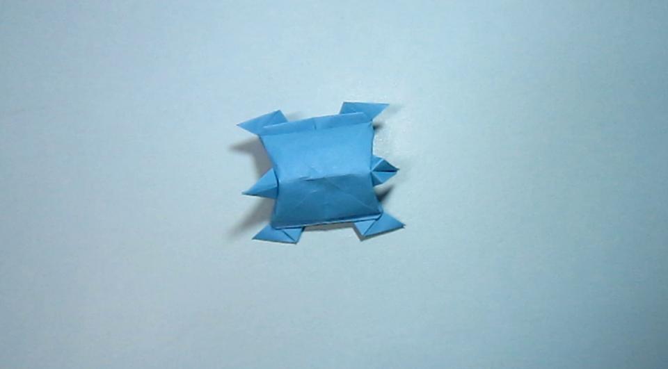 儿童手工折纸小动物 立体乌龟的折法视频