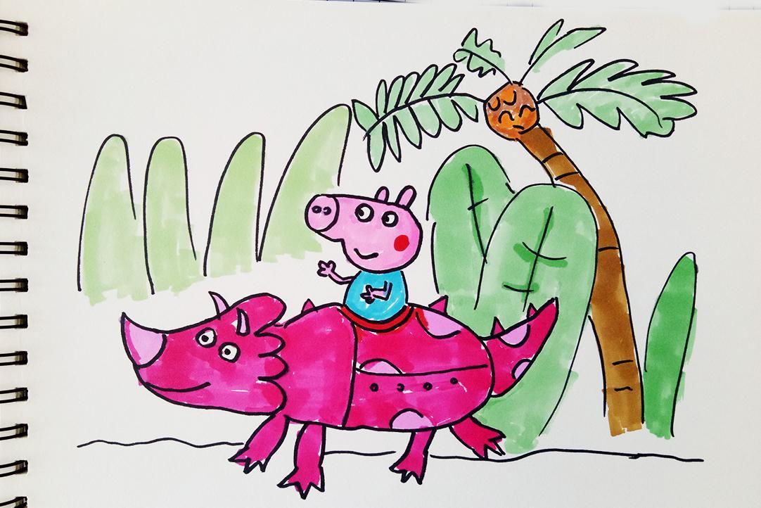 恐龙简笔画手抄报