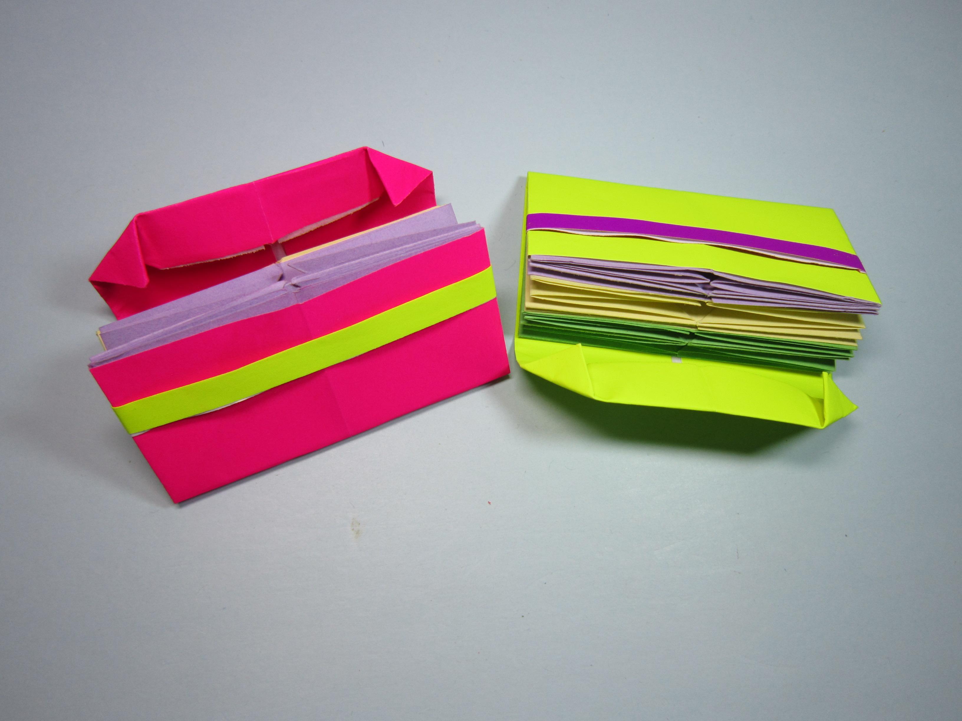 怎么折纸钱包,简单多层钱包的折法,diy手工制作