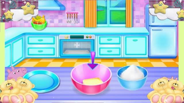 小猪佩奇小游戏diy手工制作粉红猪小妹的生日蛋糕奥特曼熊出没.
