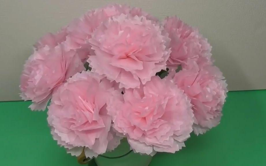 """创意纸花diy,教你制作""""康乃馨纸花""""的方法,非常漂亮"""