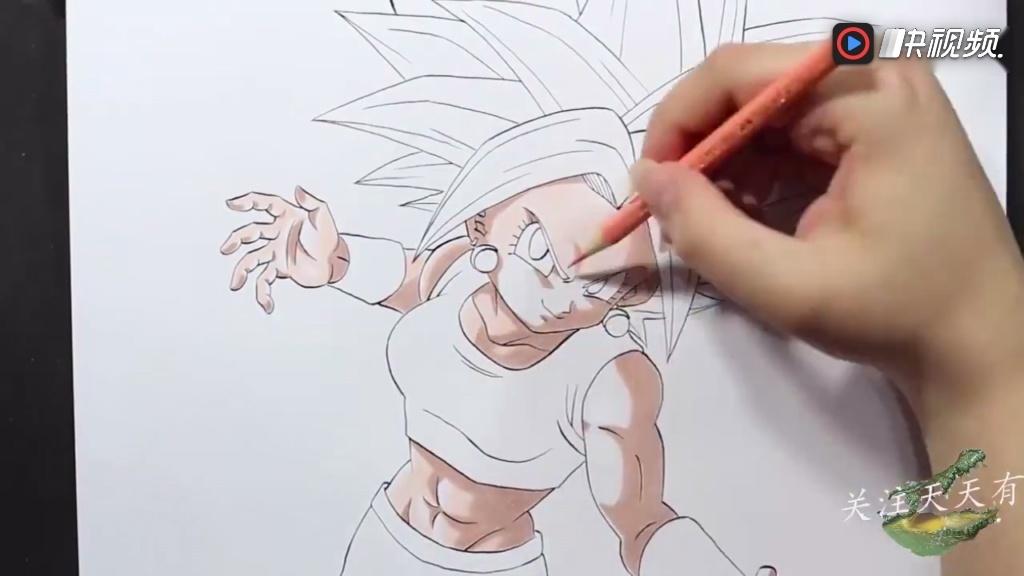 动漫手绘: 龙珠超角色绘画过程鉴赏