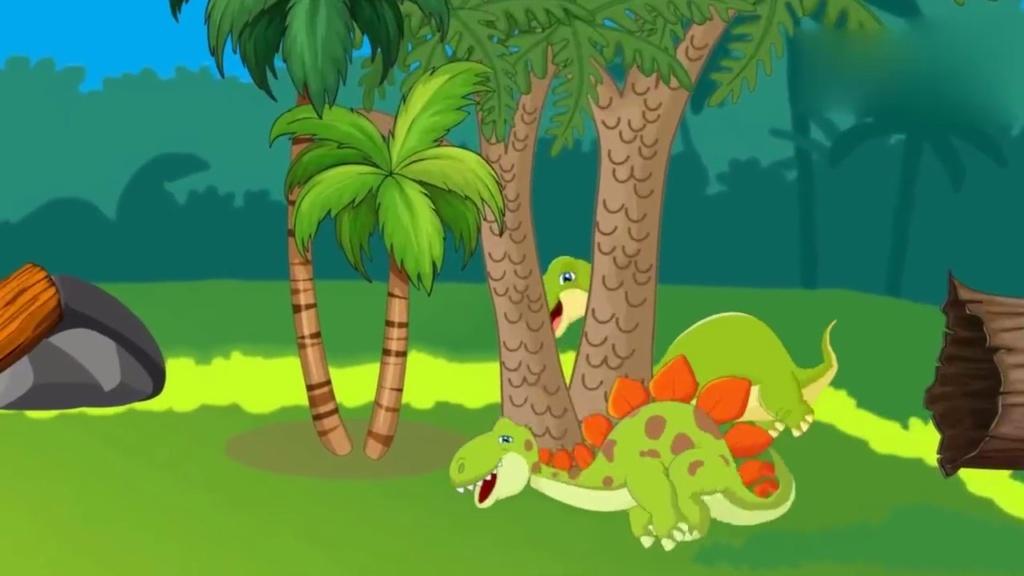恐龙世界搞笑动画片 火山喷发烧死大恐龙 恐龙世界之霸王龙动画版图片