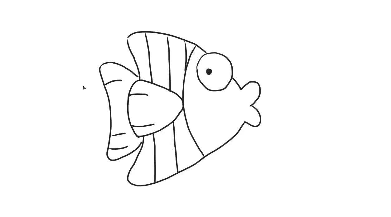 可爱的小丑鱼儿童亲子简笔画
