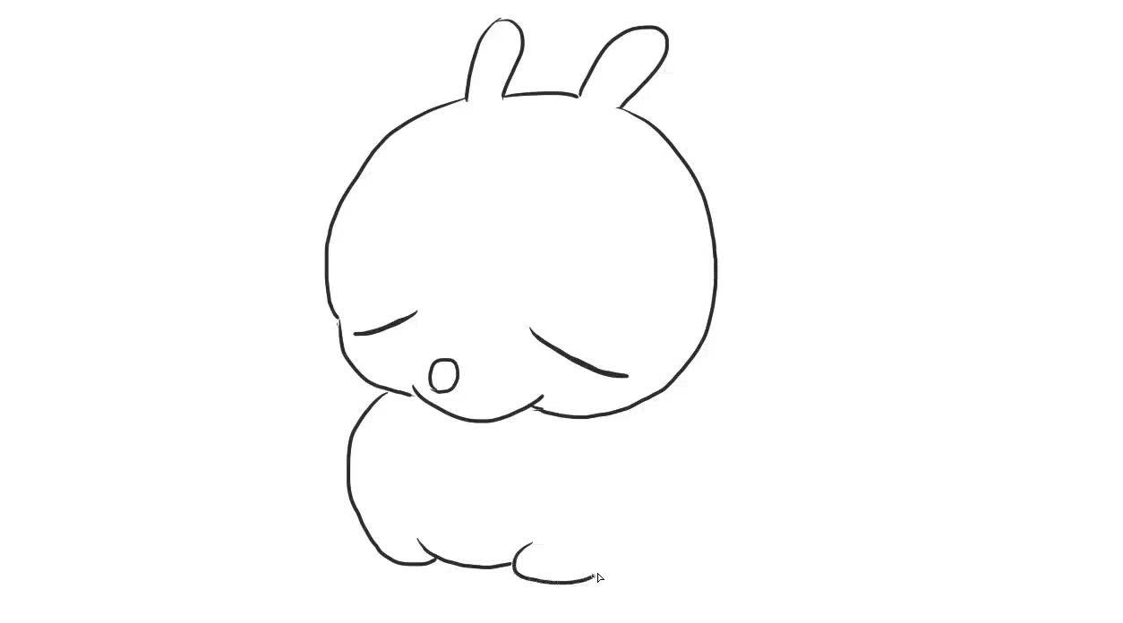 流氓兔儿童亲子简笔画