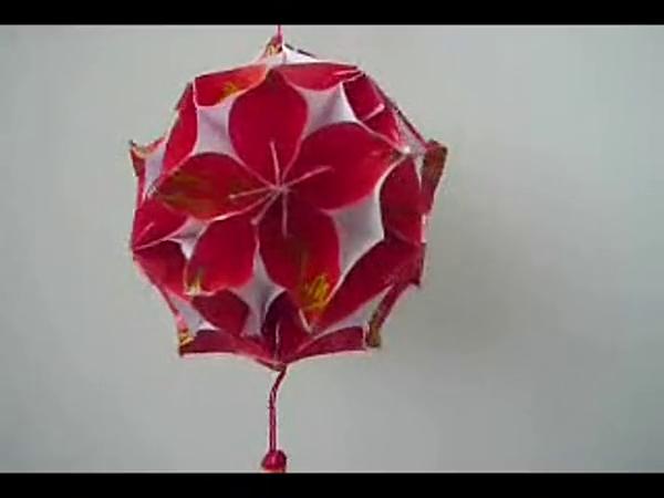 手工制作灯笼 花球 折纸diy