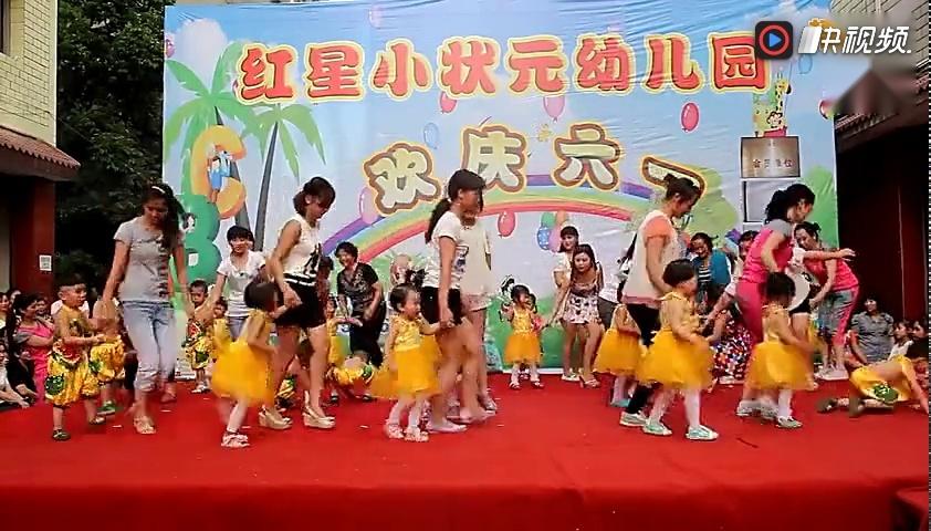 幼儿园小小班亲子舞《敲咚咚》舞蹈教学