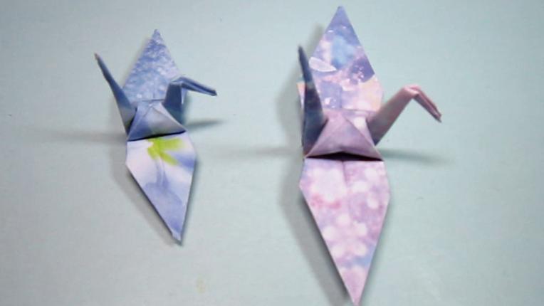 怎样折纸千纸鹤,纸艺手工千纸鹤的折法,diy手工制作