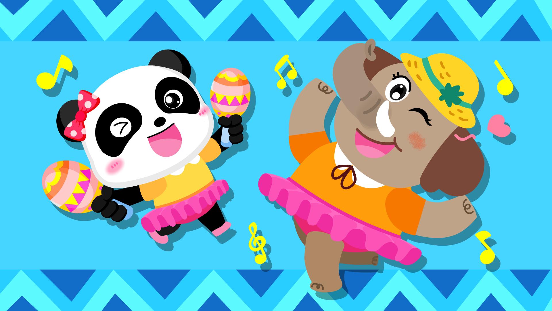 宝宝巴士之动物世界动画看小朋友跟大象一起跳舞,太逗了!