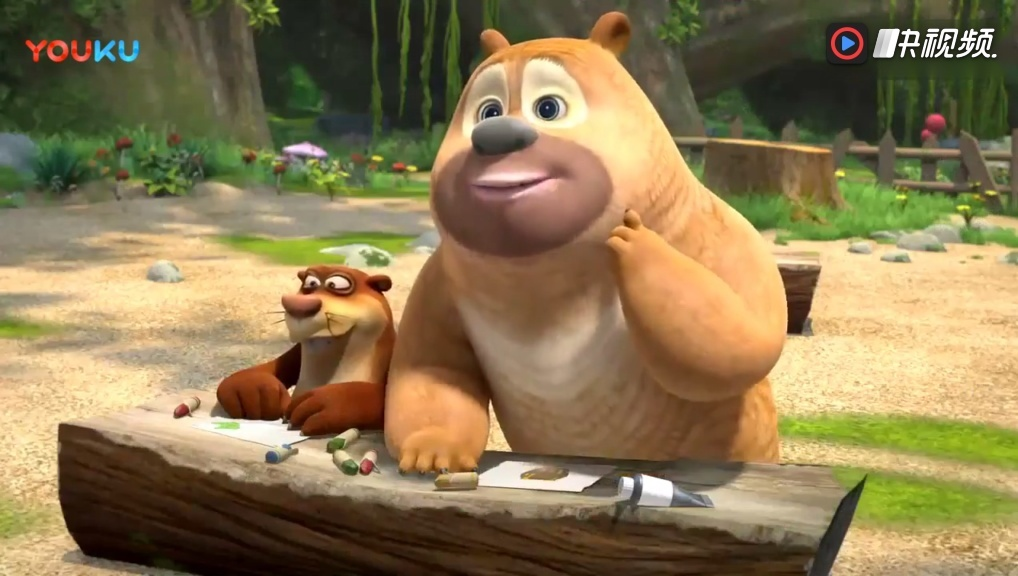 熊出没之熊熊乐园动画片: 熊二看水果漫画也能饿!