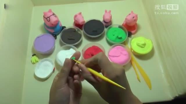 手工制作 小猪佩奇教你制作轻泥水果篮[玩具 视频 亲子 游戏!视