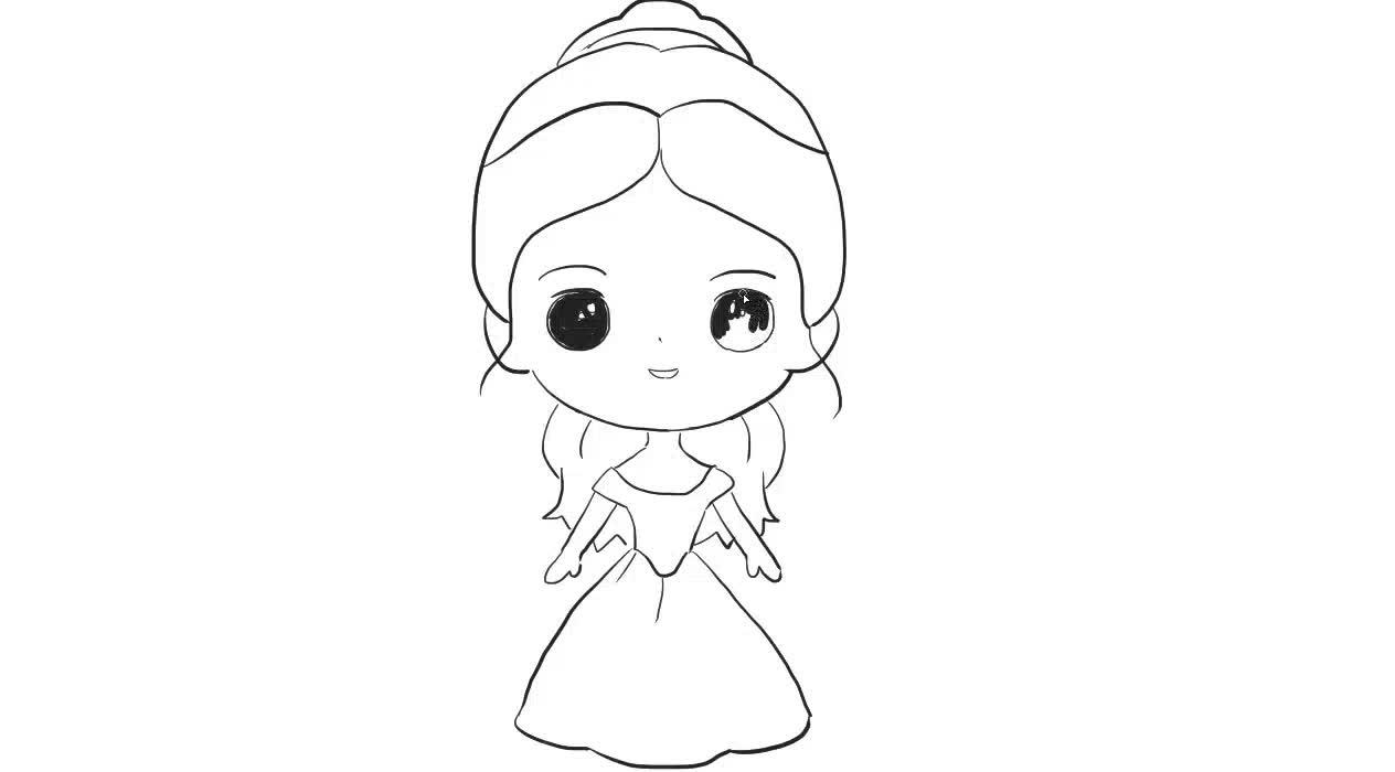 贝儿公主儿童亲子简笔画