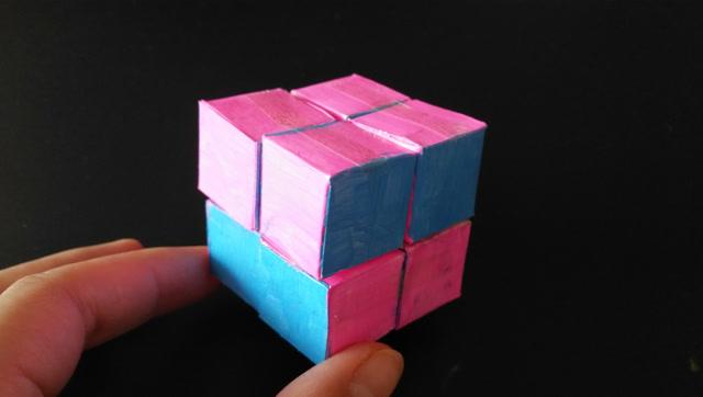 教你折纸无限翻转的立体魔方,简单好玩有创意,玩一天都不会够
