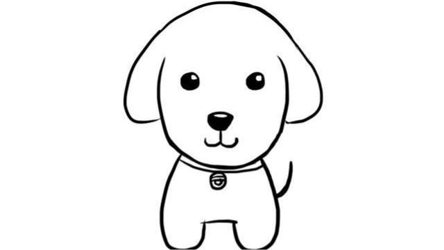 教小朋友如何绘画可爱的小狗卡通儿童幼儿简笔画教程