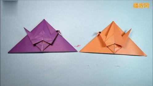 儿童手工折纸书签 千纸鹤书签