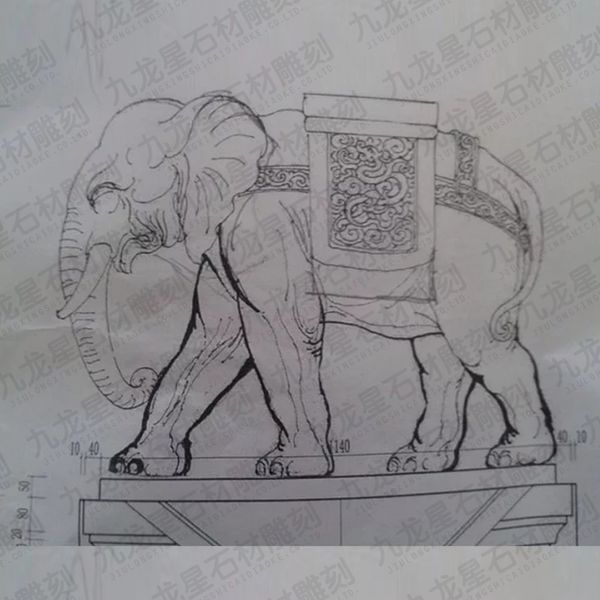 大象比例图纸图纸画手机pdf转图纸cad石雕图片