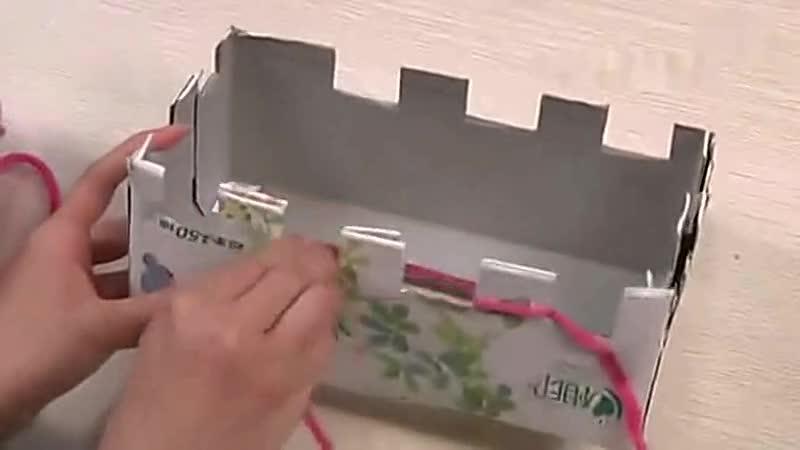 织围巾教程视频 怎么样用纸盒织围巾