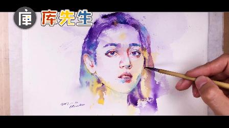视频:手绘水彩版迪丽热巴