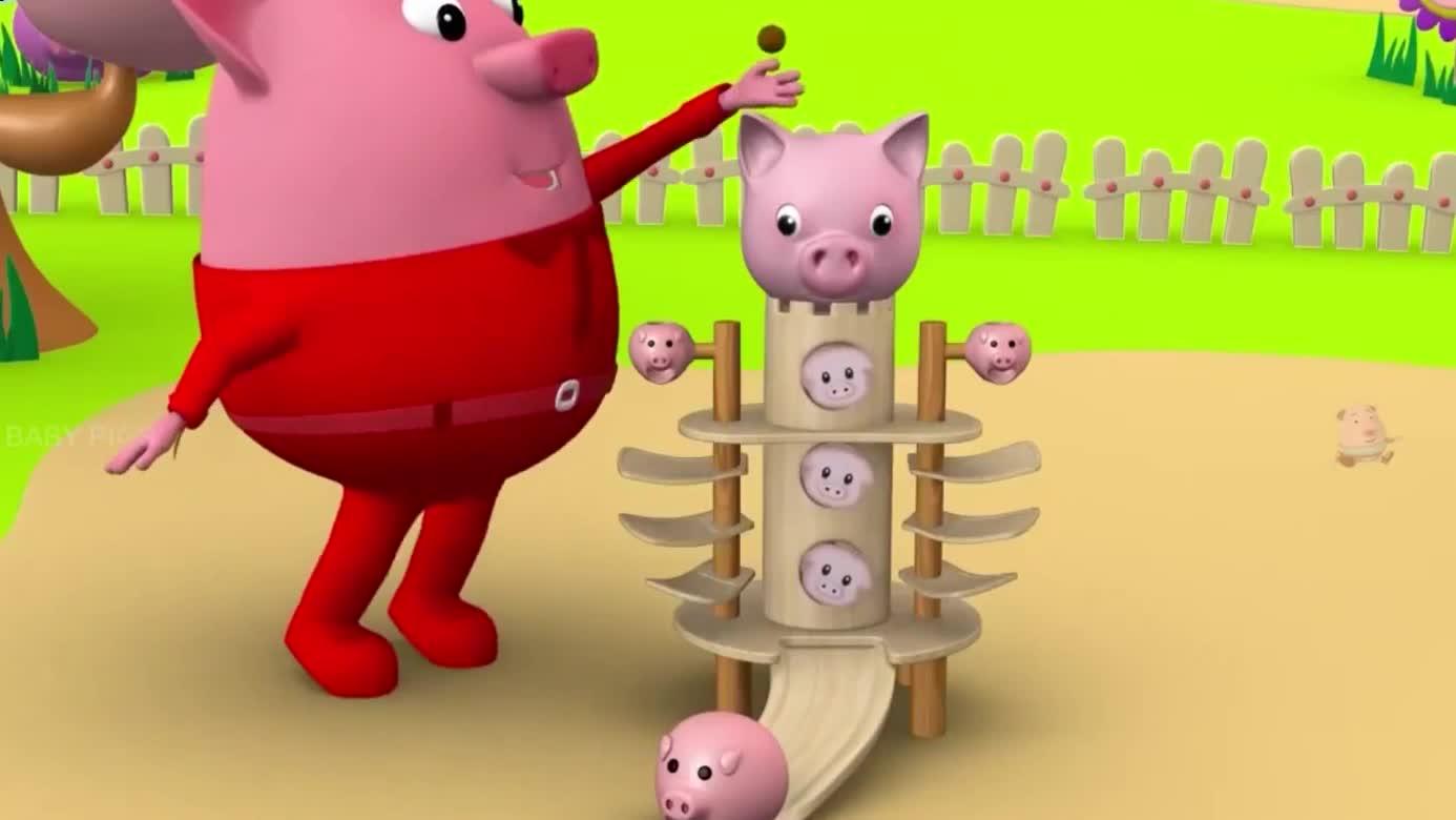 闪烁的闪烁的小星星幼儿园儿童的学习节奏的歌与歌的小宝贝猪 母-.