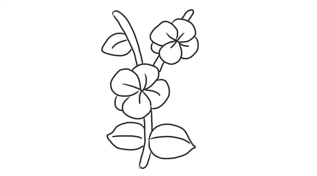 梅花幼儿亲子简笔画 宝宝轻松学画画-绘心儿童绘画教程-绘心儿童