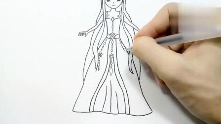 儿童简笔画教程视频之人物篇, 叶罗丽的冰公主, 喜欢的不要错过!图片
