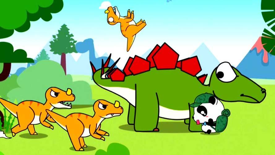 《宝宝巴士》奇妙动物农场 02 仗义的剑龙和坚硬的包头龙 儿童学前.