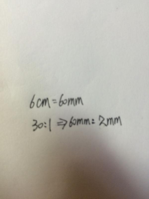 一个精密仪器按30:1的比例尺画在图纸上6厘米墙哪里图纸砌体在找图片