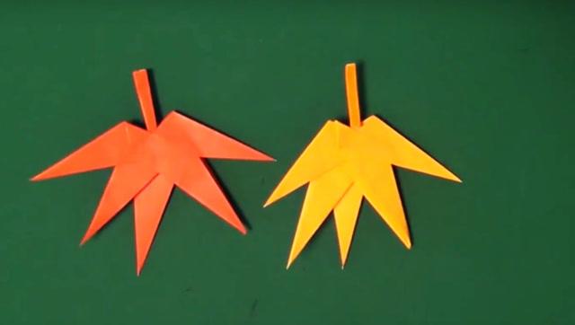 教你折一片枫叶!折纸大全图解!简单又漂亮的折纸艺术!创意diy纸艺