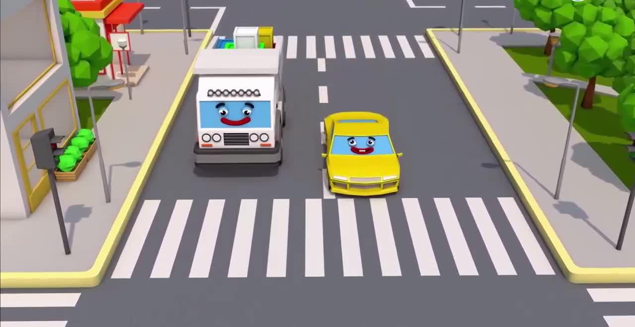 跟着红绿灯学颜色和数字_3d动画早教卡通_1