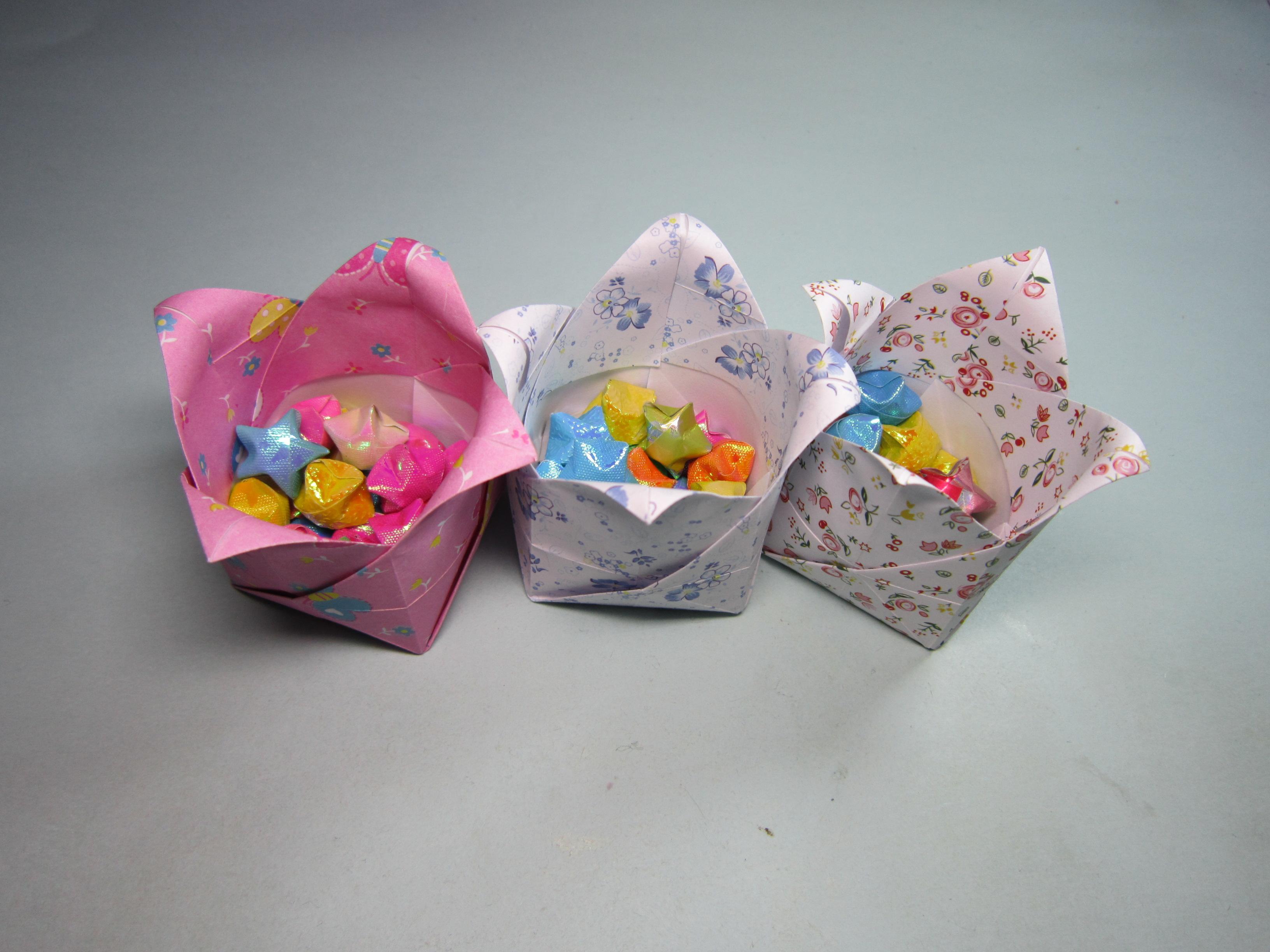 手工折纸礼物盒子,创意diy手工制作礼品收纳盒