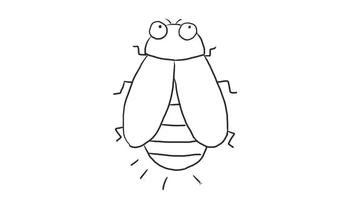 萤火虫亲子绘画儿童简笔画视频 宝宝轻松学画画-绘心儿童绘画教程-.