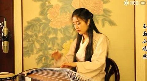 古风小仙女古筝弹奏《三生三世十里桃花》片尾曲《凉凉》 气韵双.