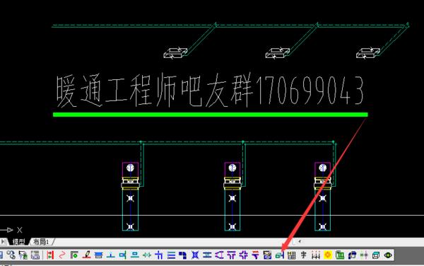 天正大小cad页面绘制手机统图暖通水系字体v大小教程图片
