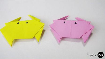 视频:小爱的折纸 螃蟹