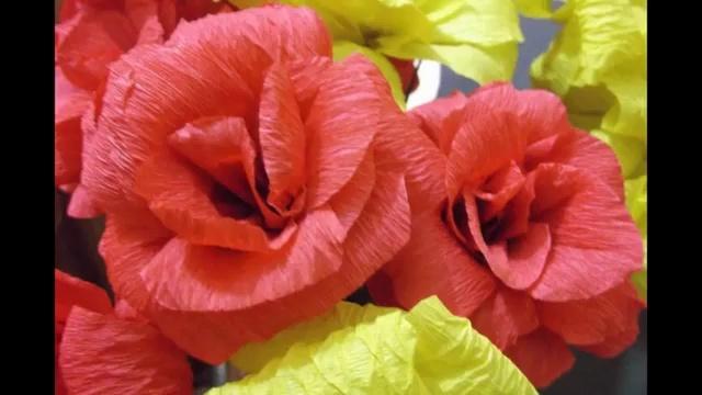 绉纸花的做法 皱纹纸花的制作方法 制作技巧 教程视频
